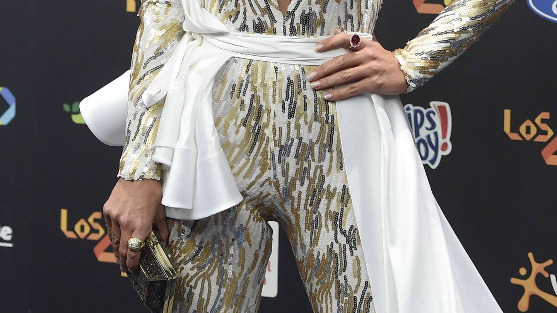 Paula Echevarría y su ajustado mono andrógino a lo Ziggy Stardust.