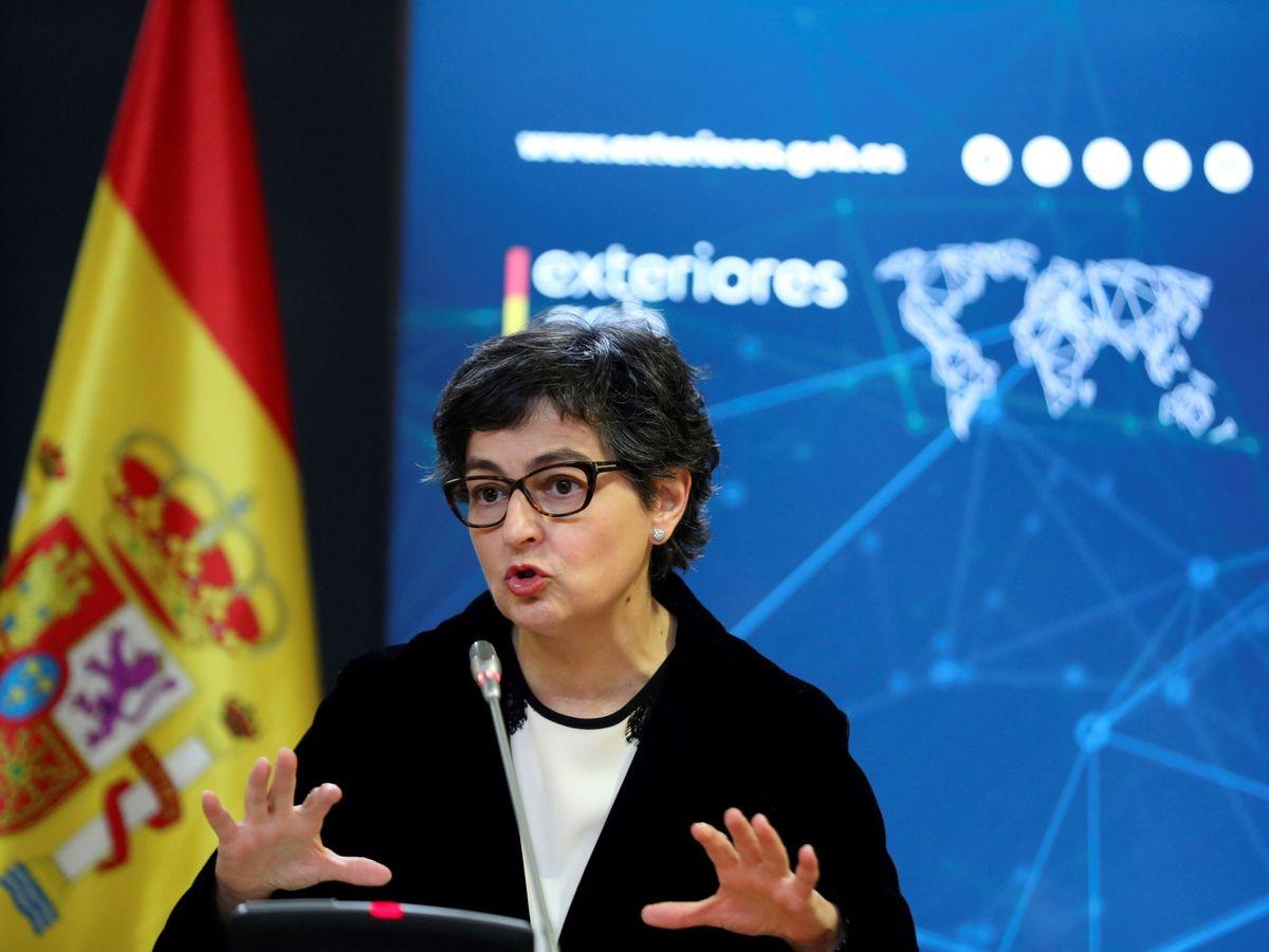 Foto: Rueda de prensa de Arancha González Laya (EFE)