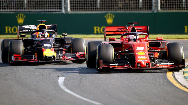 Foto: Incluso Red Bull y Verstappen superaban en la meta a Ferrari, los grandes favoritos de la pretemporada. (EFE)