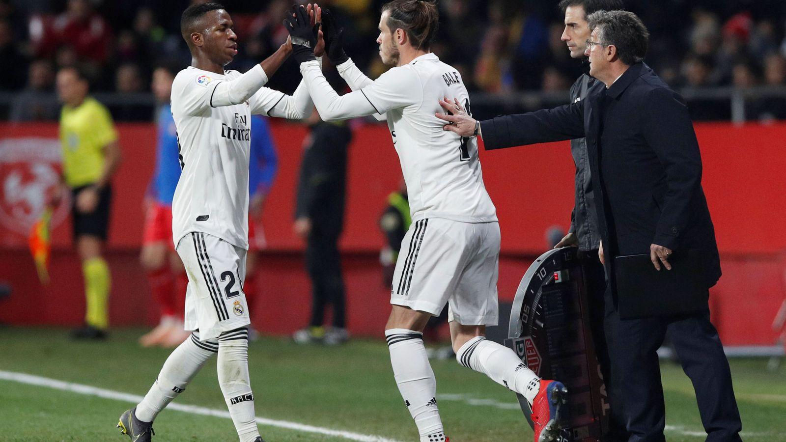 Foto: Vinicius y Bale durante la temporada pasada. (Reuters)