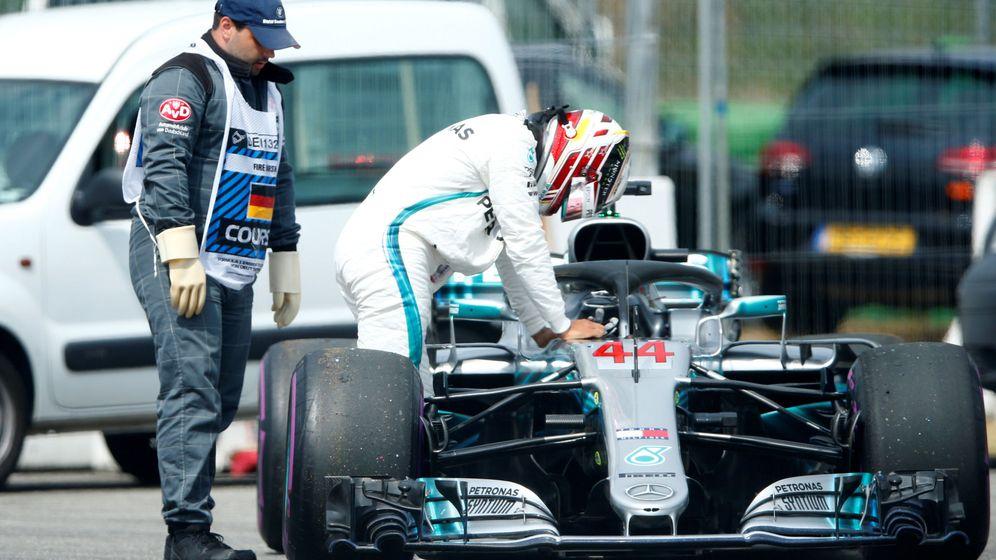 Foto: Hamilton nos dejó la imagen del Gran Premio de Alemania. (REUTERS)