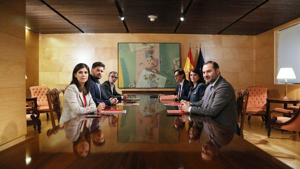 ERC mantiene el no a Sánchez tras la primera reunión pero seguirá hablando