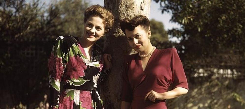 Foto: Joan Fontaine y Olivia de Havilland