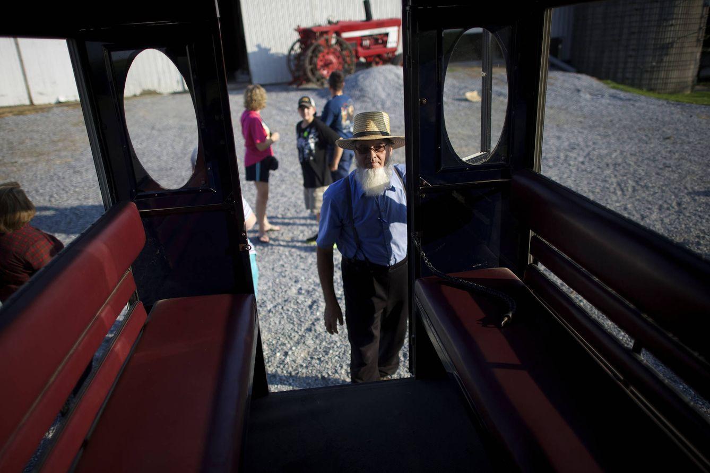 Foto: John Fisher durante un tour para turistas en Lancaster County, Pensilvania (Reuters).