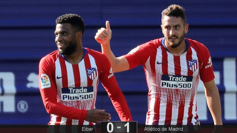 Foto: Lemar marcó el gol del Atlético tras una asistencia de Koke. (EFE)