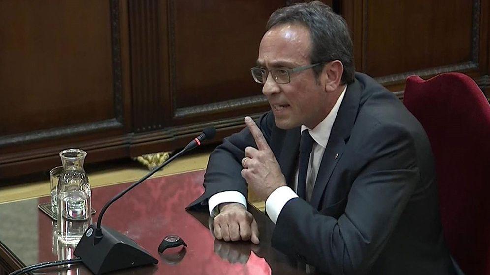 Foto: El exconseller Josep Rull en el juicio del 'procés'. (EFE)