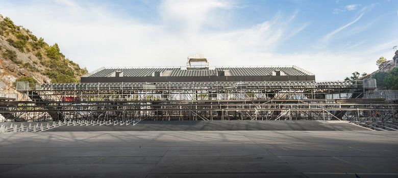 Foto: Imagen del escenario construido para la ocasión (Vanitatis)