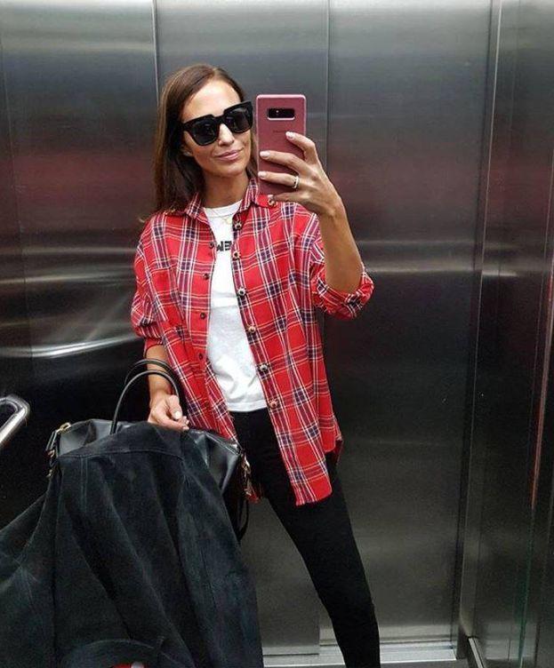 Foto: Paula Echevarría y su 'selfie'. (Instagram)