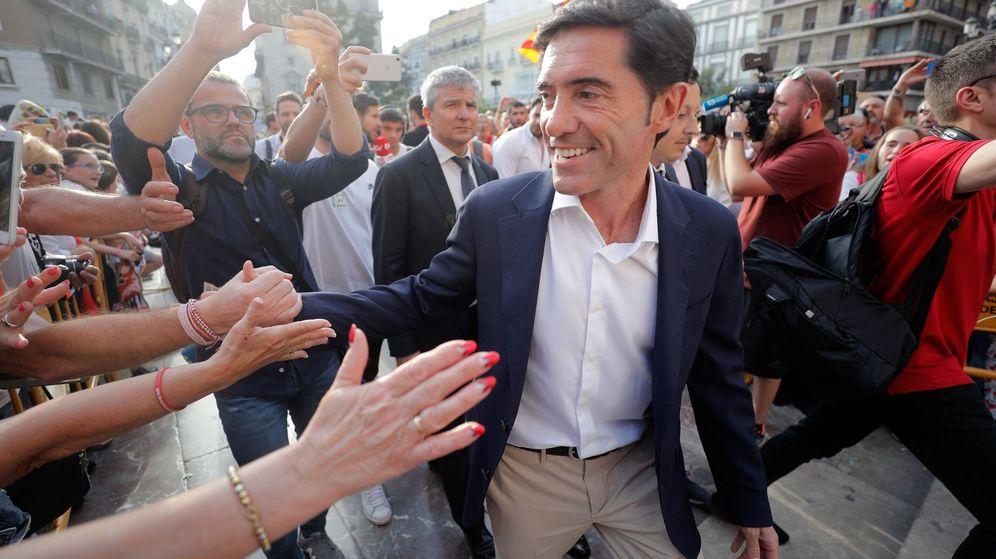 Foto: Marcelino en la celebración de la Copa del Rey. (EFE)
