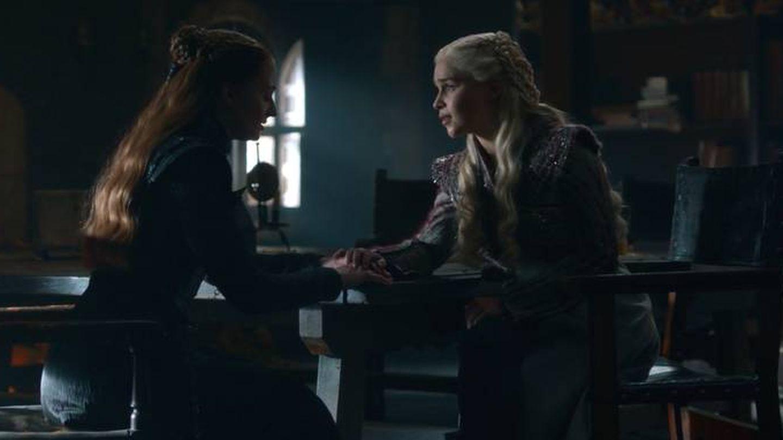Sansa y Daenerys, en 'Juego de tronos'. (HBO)