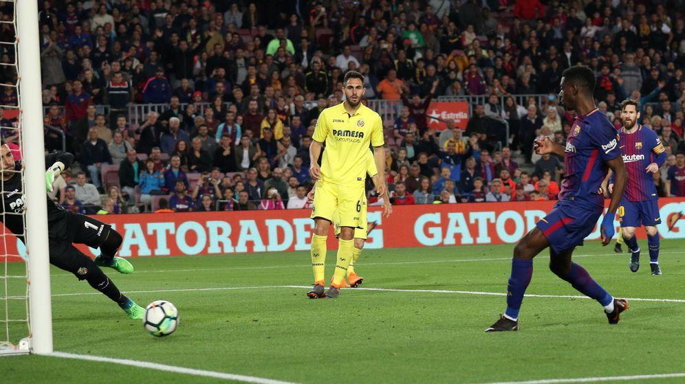 Foto: Dembélé, en uno de sus goles. (Reuters)