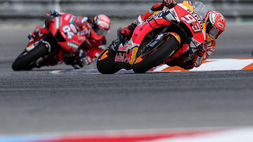 Foto: Marc Márquez consiguió la victoria en el Gran Premio de la República Checa disputado en Brno. (EFE)