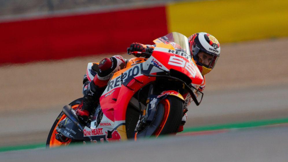 Foto: Jorge Lorenzo, durante el GP de Aragón. (EFE)