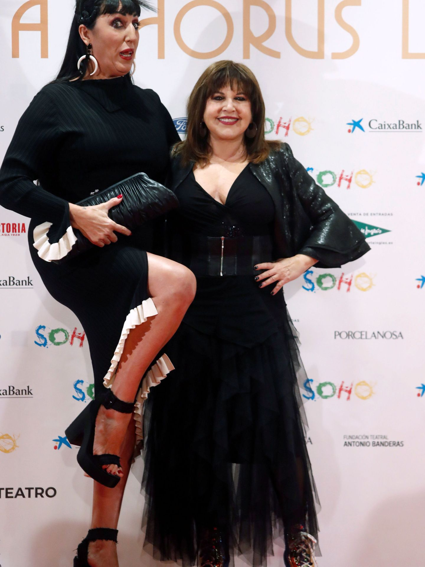 Loles León y Rossy de Palma posando en el photocall. (Reuters)