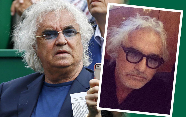 Foto: Comparativa del antes y el después del empresario italiano Flavio Briatore (Vanitatis)