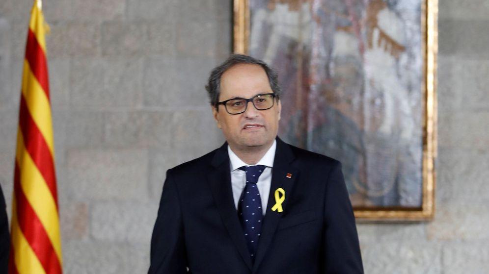 Foto: Quim Torra toma posesión de su cargo como 'president'. (EFE)