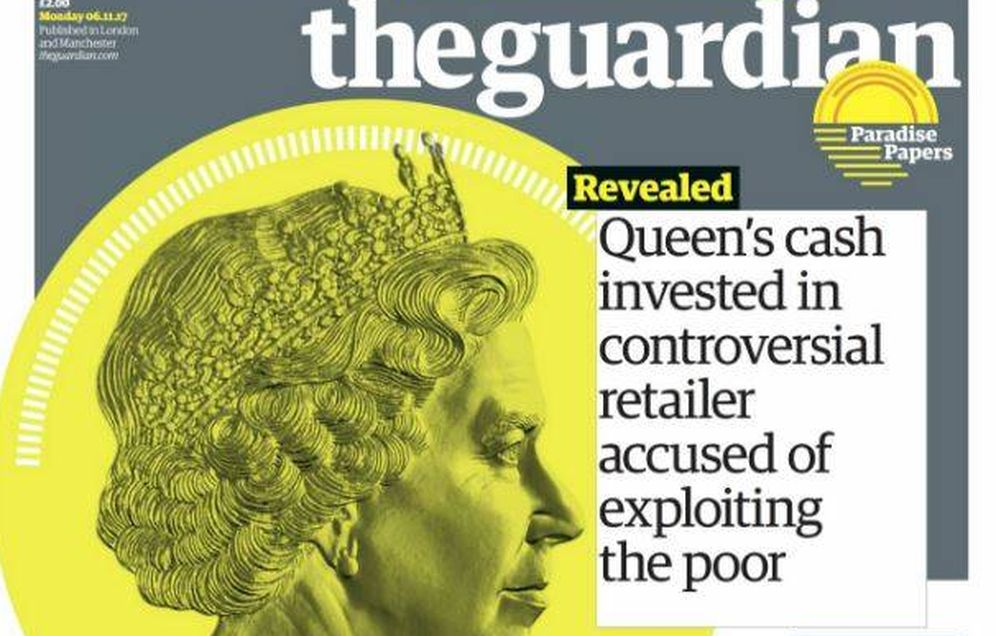 Foto: Portada de 'The Guardian' sobre los Papeles Paraíso