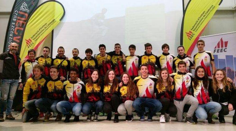 Foto: Imagen de integrantes de deportistas de la Federación Catalana de Alpinismo y Escalada. (FOTO: )