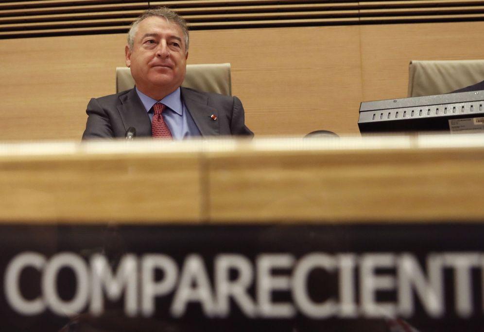 Foto: José Antonio Sánchez, presidente de RTVE, el pasado 26 de octubre en el Congreso, en la comisión mixta de Control de la Corporación. (EFE)