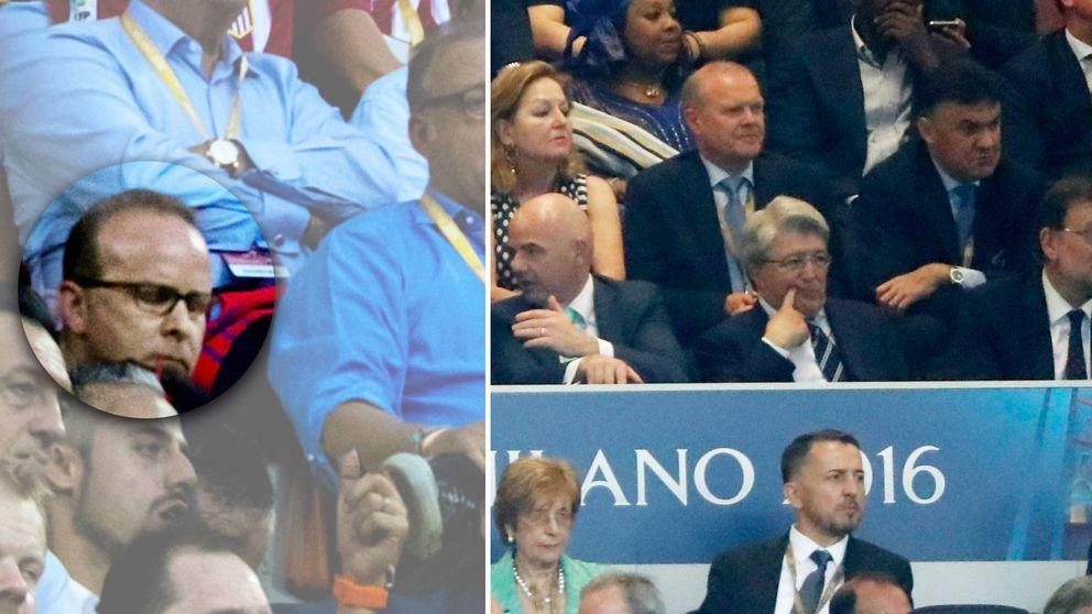 Valner, testaferro del ático de González, en la final de Milán invitado por Cerezo