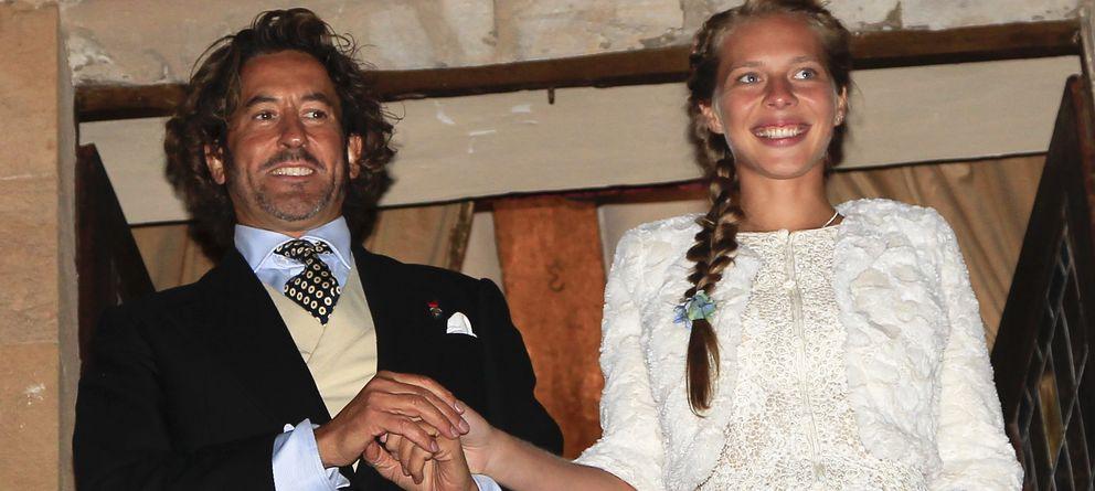 Foto: Álvaro de Marichalar y Ekaterina Anikieva el día de su boda en septiembre de 2010. (I.C.)
