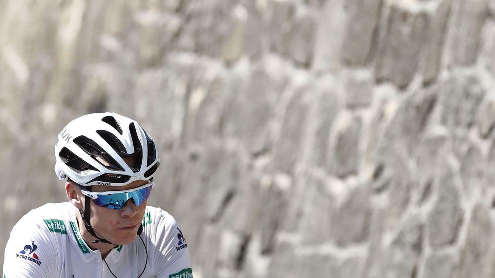 Foto: Froome está a 3:37 del líder Quintana (Javier Lizón/EFE).