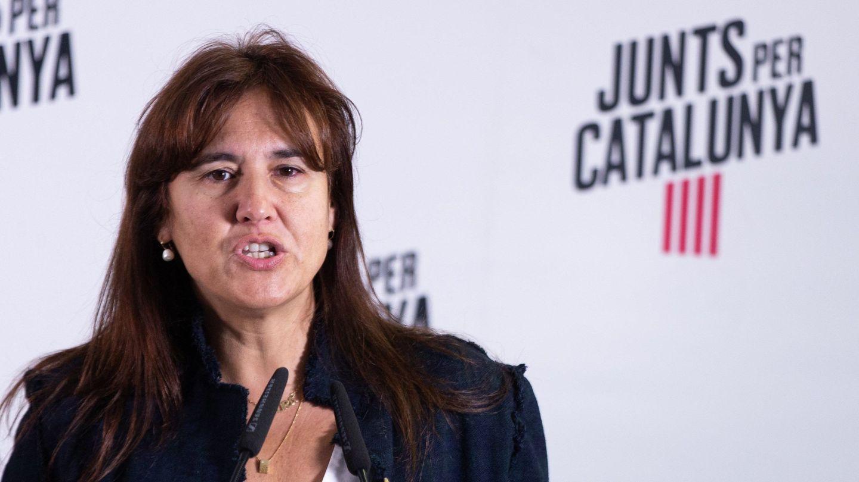Laura Borràs, portavoz de JxCAT en Madrid, el pasado 11 de noviembre. (EFE)