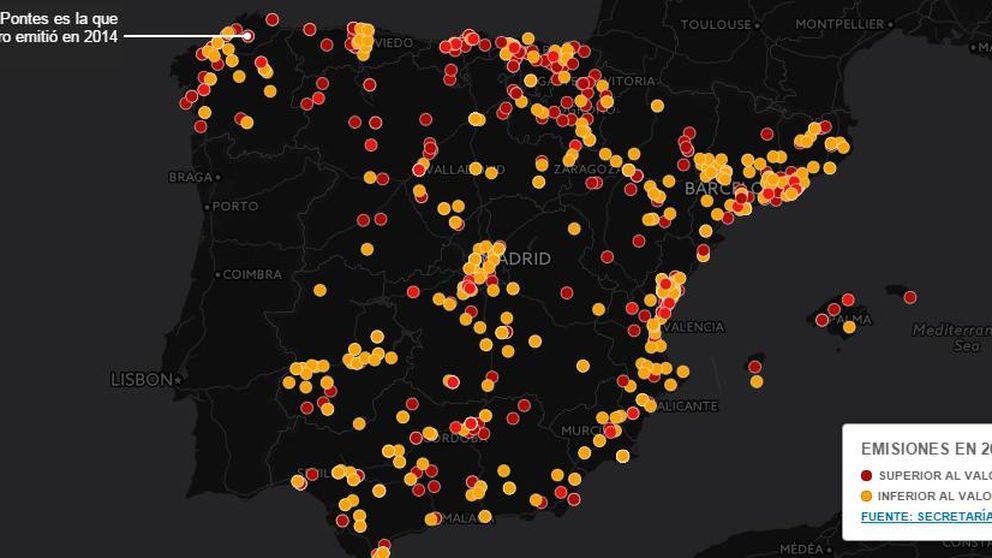Diez empresas copan el 65% de las emisiones de CO2 industrial de España