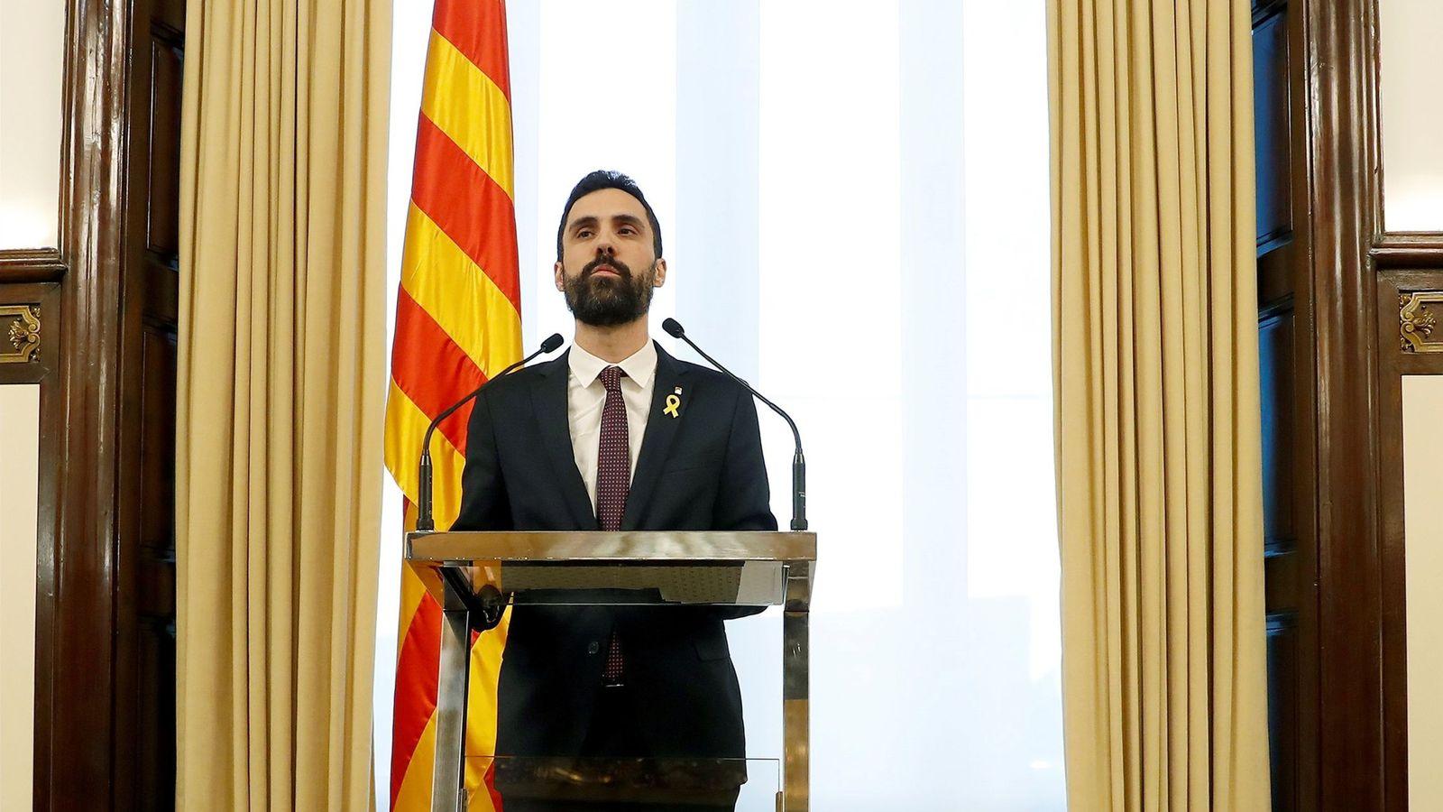 Foto: El presidente del Parlament, Roger Torrent. (EFE)