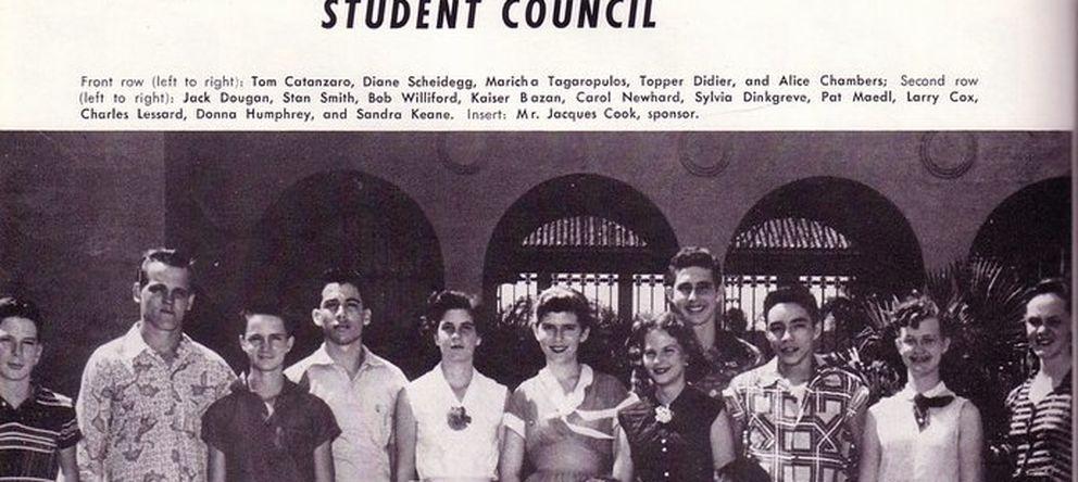 Foto: Estudiantes de la promoción de 1954 del Instituto de San Cristóbal, en la Zona.