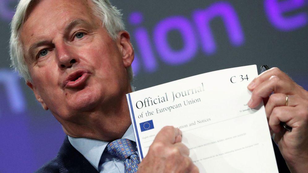 Foto: El negociador europeo, Michel Barnier, durante una rueda de prensa. (Reuters)