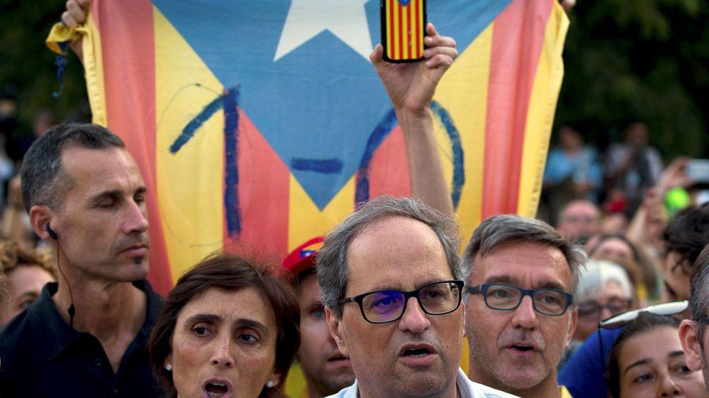 Foto: Quim Torra en una manifestación. (EFE)