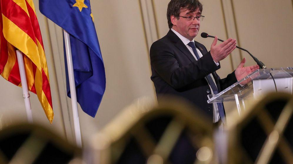 Foto: Carles Puigdemont en una conferencia en Bélgica. (EFE)