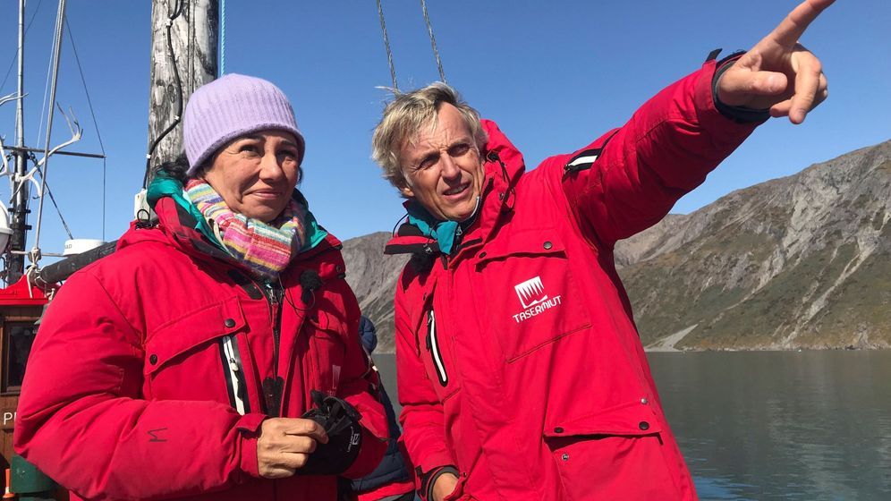 Foto: Ana Botín, invitada en 'Planeta Calleja', navega hasta Groenlandia. (EFE)