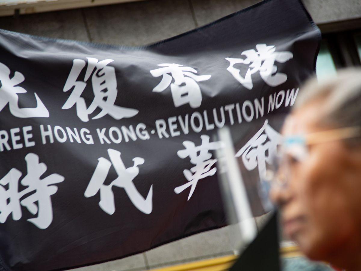 Foto: Una protesta en contra de la Ley de Seguridad Nacional china en Hong Kong. (EFE)