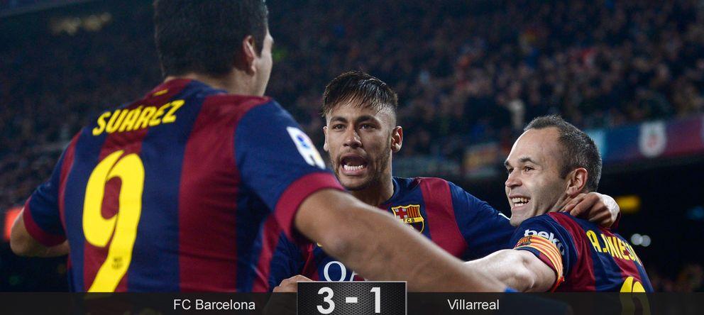 Foto: El Barcelona encarrila el pase al aprovechar el vértigo que sufre el Villarreal a las finales