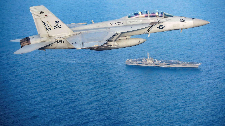 Un Super Hornet en pleno vuelo. (Foto: Reuters)