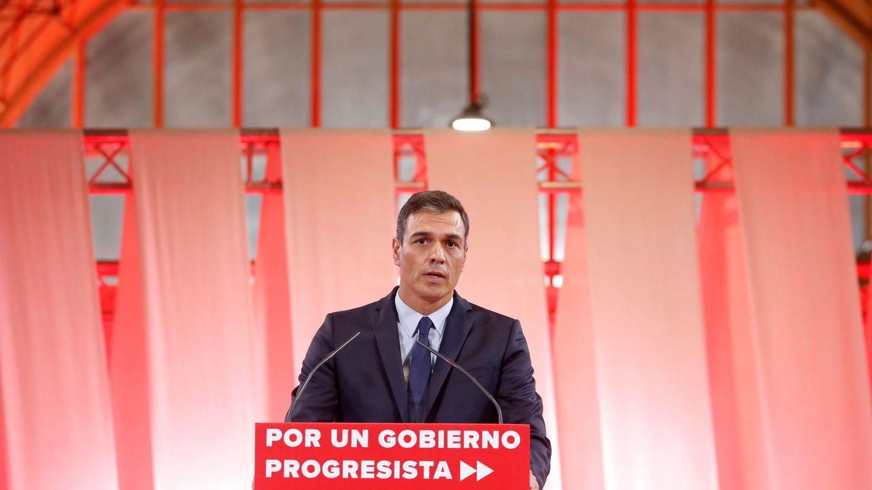 El presidente del Gobierno en funciones, Pedro Sánchez, presenta su programa en Madrid, este martes. (EFE)