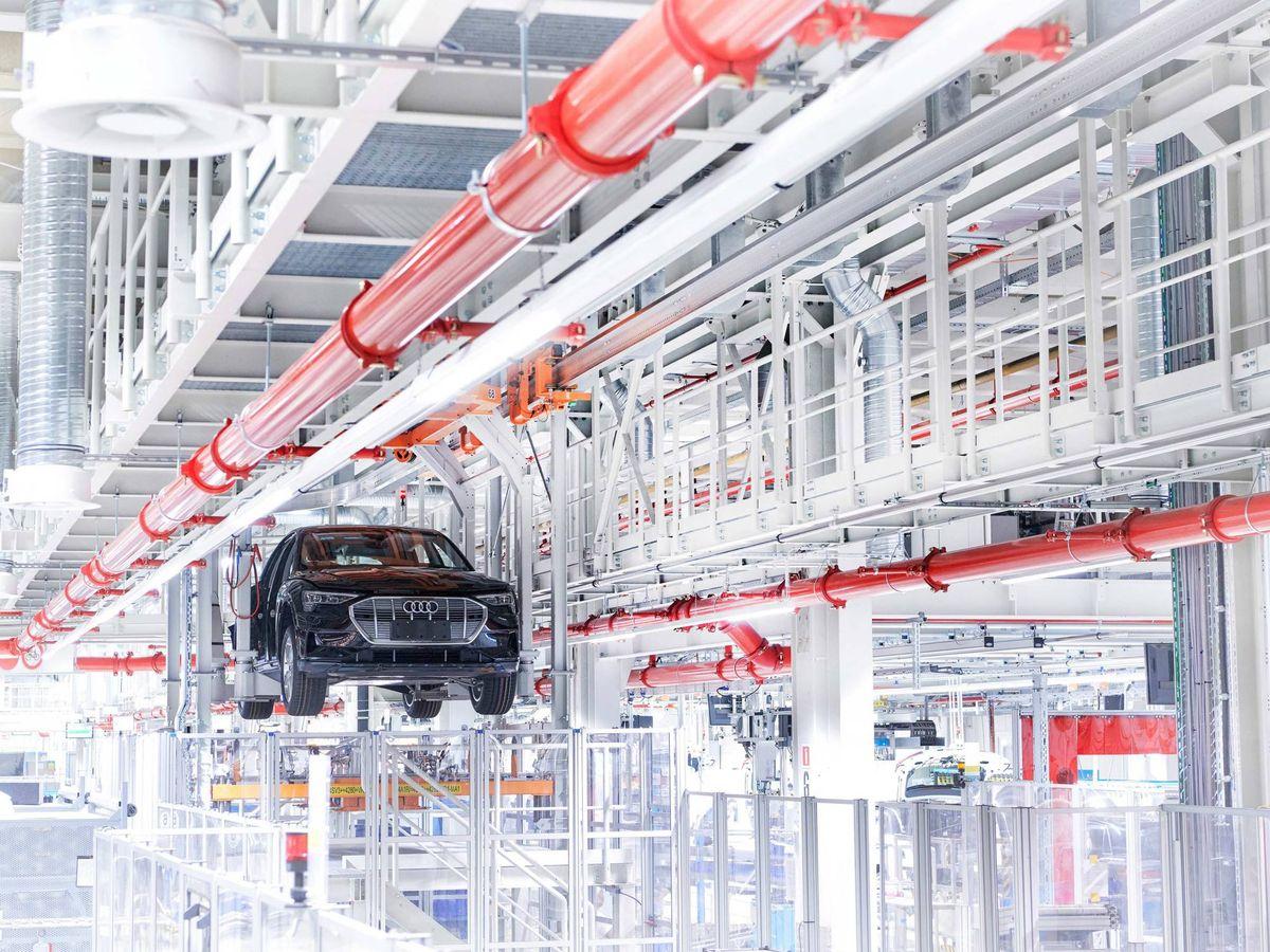 Foto: La planta de Audi en Bruselas, donde se fabrica el e-tron ya es neutra en emisiones de carbono.