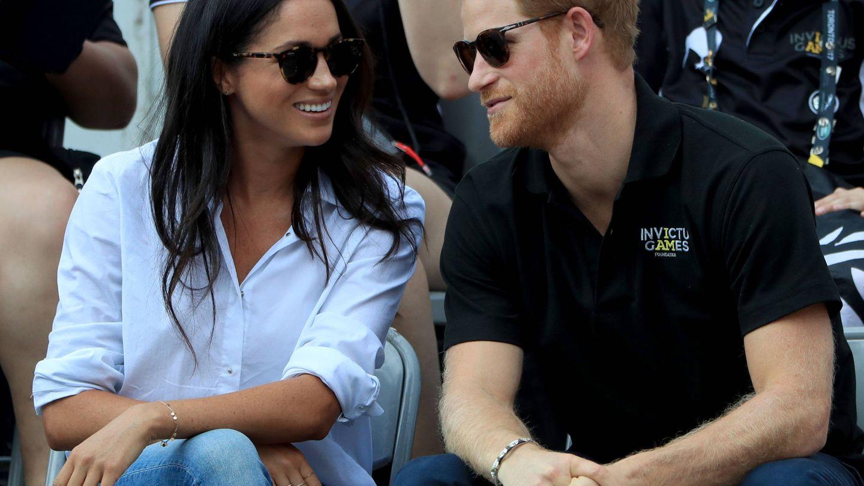El príncipe Harry y Meghan Markle, durante los Juegos. (Gtres)