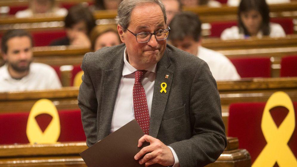 Foto: Quim Torra, en el Parlament. (EFE)