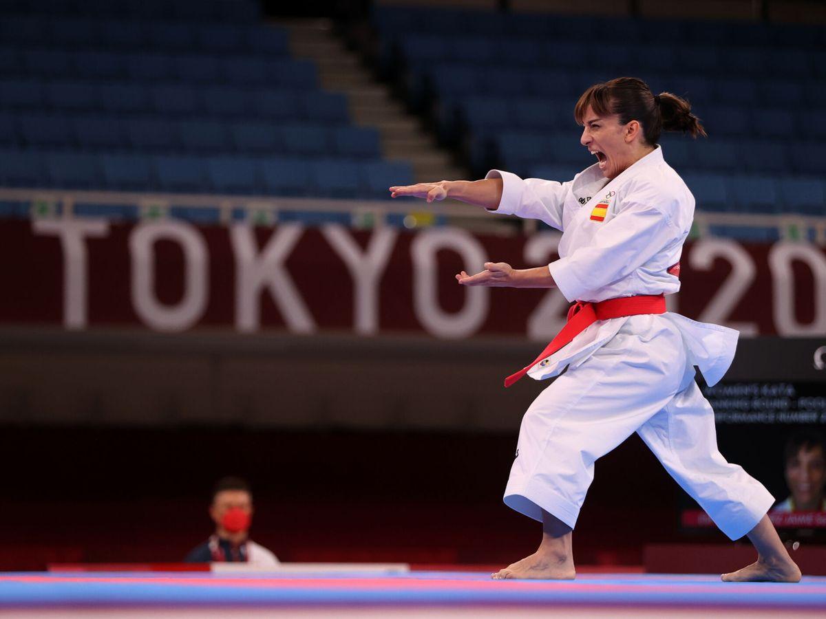 Foto: Sandra Sánchez, la karateka española, en Tokio (Reuters)