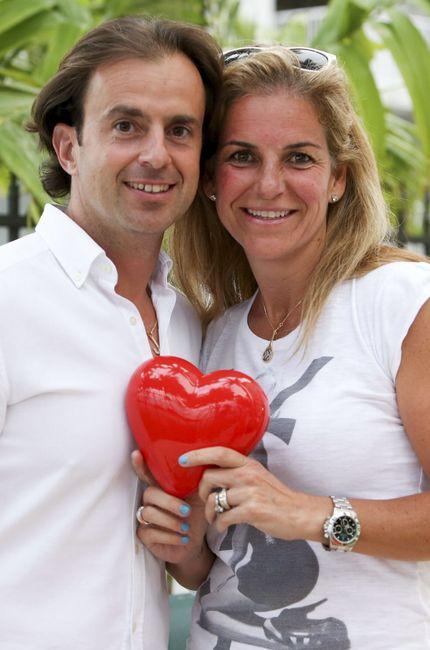 Arantxa Sánchez Vicario y su marido, Josep Santana