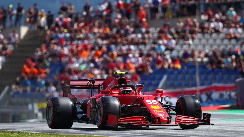 Ferrari cambio de estrategia para las dos carreras austríacas, y Sainz logró un quinto puesto en la última cita del Red Bull Ring