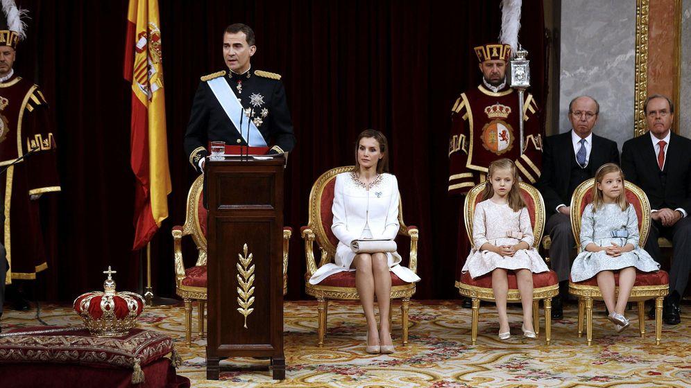 Foto: Felipe VI, durante su discurso de proclamación como Rey en el Congreso de los Diputados. (EFE)