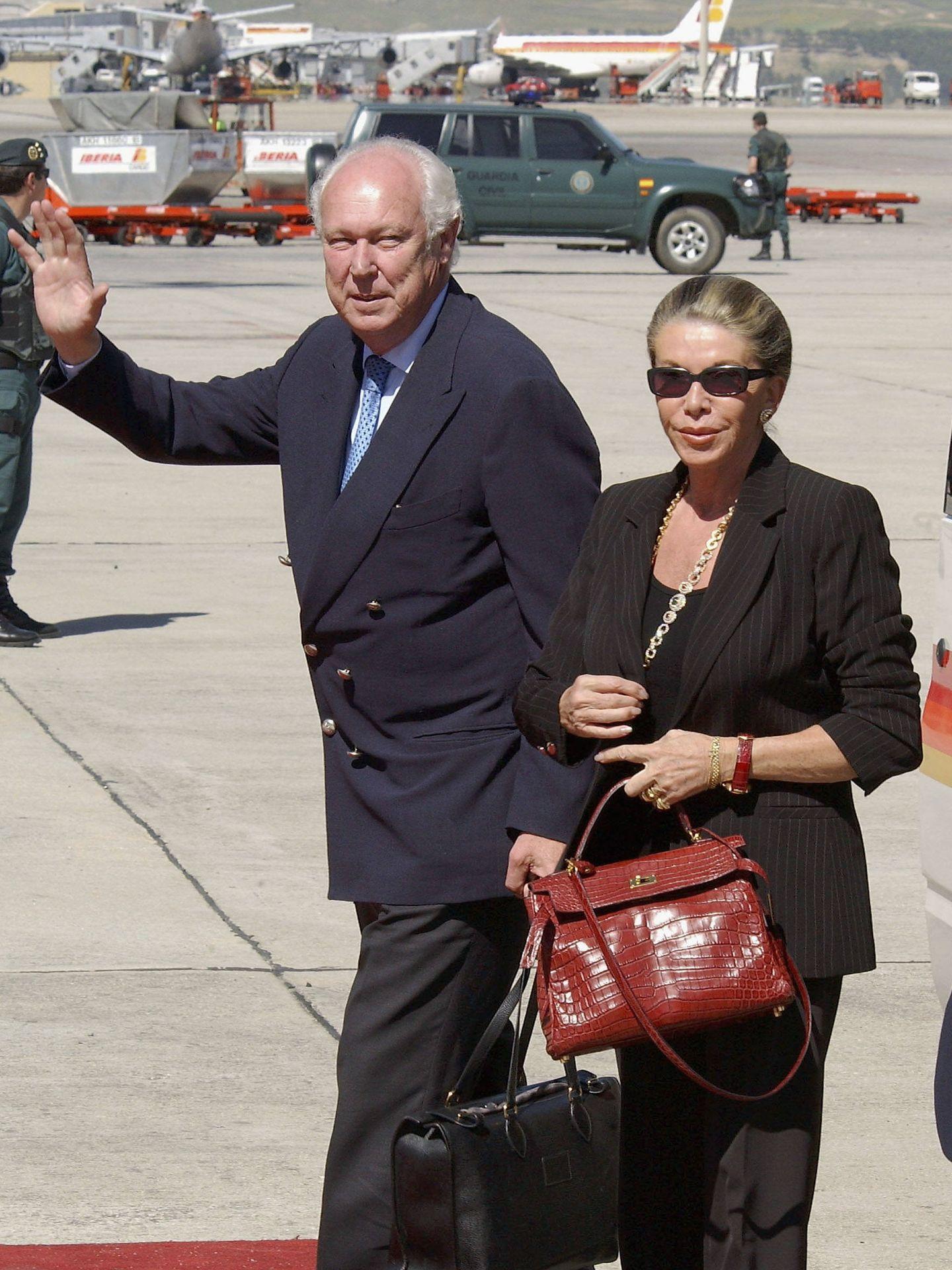 Víctor Manuel de Saboya y su mujer, en una imagen de archivo. (Getty)