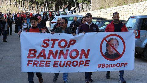 Dentro de la protesta contra la escuela-monasterio de Steve Bannon en Italia