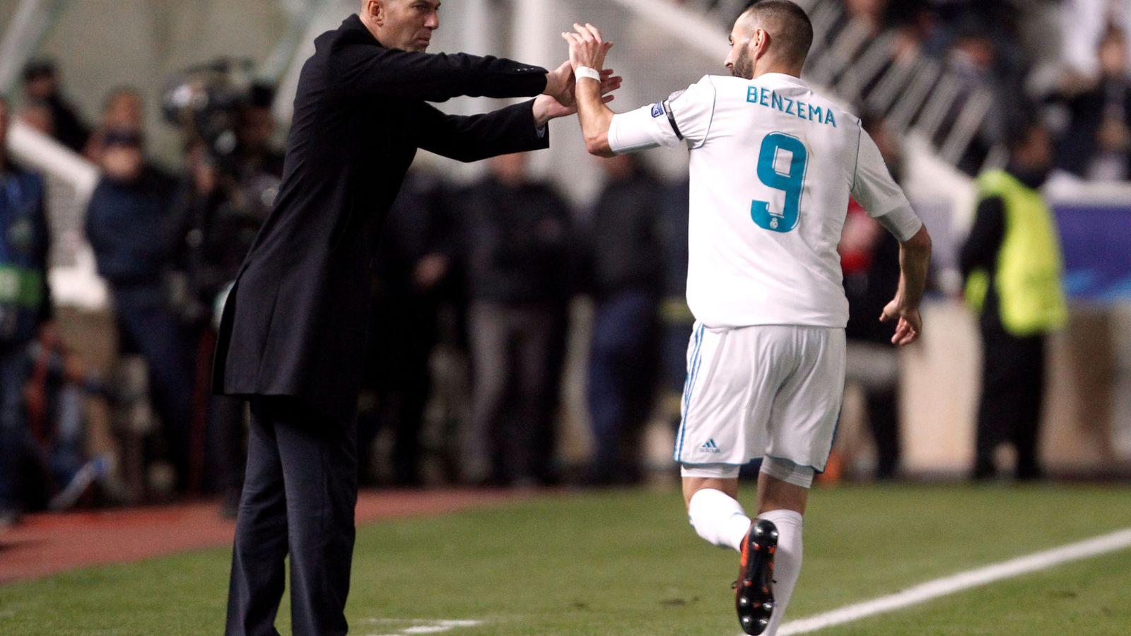 Foto: Zidane y Benzema en un partido de Champions. (Reuters)