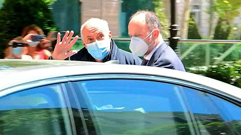 Captura de vídeo de José Luis Moreno a su salida de la sede de la Audiencia Nacional. (EFE)