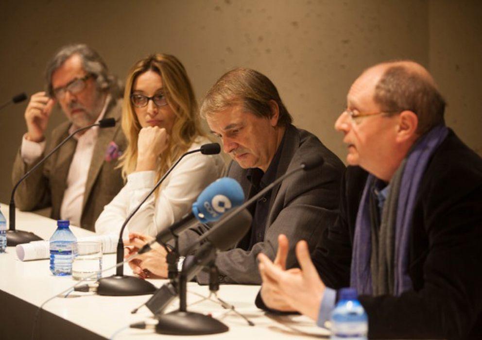 Foto: De derecha a izquierda, Fernando Marías, Joan Tarrida, Palmira Márquez y Ramón Pernas. (Rai Robledo)